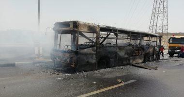 مصدر أمني: ماس كهربائي وراء حريق أتوبيس النقل العام بدائري مؤسسة الزكاة