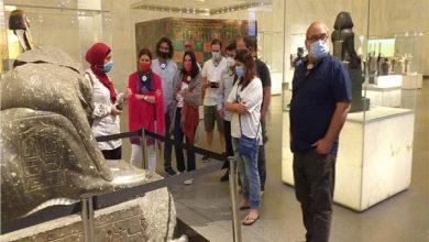 وفود سياحية بالمتحف القومي للحضارة