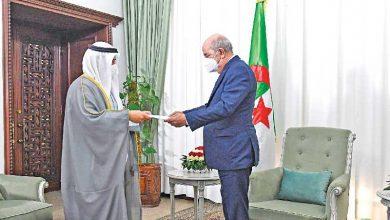 صاحب السمو يبعث برسالتين إلى عبدالمجيد تبون ورئيس المجلس الرئاسي الليبي