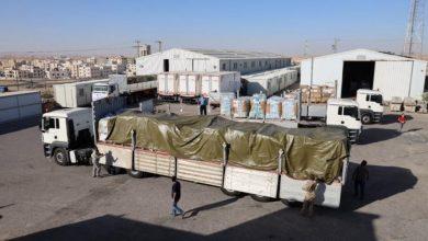 الأردن يُسَيِر قافلة مساعدات إنسانية إلى قطاع غزة .
