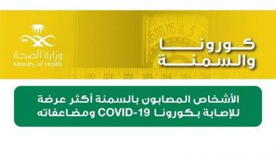 «الصحة»: 48% زيادة في وفيات «كورونا» لمصابي «السمنة المفرطة» - أخبار السعودية