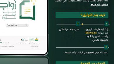 العدل السعودية تُعلن توثيق 107 آلاف عقد إلكتروني للزواج