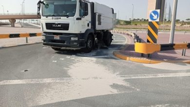 بالصور.. وكيل البلديات: خطة عاجلة للإنتهاء من تنظيف الشوارع والميادين بعد موجة الغبار الأخيرة