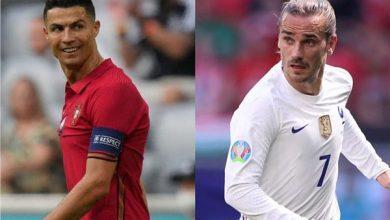مباراة فرنسا والبرتغال في يورو 2020