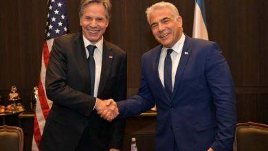 بلينكن يبحث مع لابيد أهمية وقف إطلاق النار بين الإسرائيليين والفلسطينيين