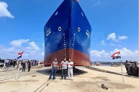 تدشين أول سفينة شحن سورية مصنعة محليا