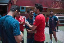 تريزيجيه يحضر تدريبات فريق الكرة