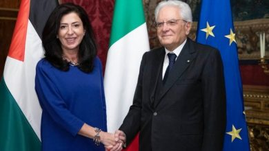 عبير عودة تطلع اعضاء مجلس الشيوخ الايطالي على الاوضاع الفلسطينية