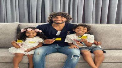 محمد النني مع اولاده