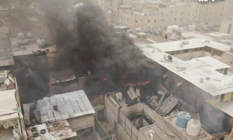 «الإطفاء»: ستة فرق سيطرت على حريق 4 منازل عربية في الجليب