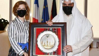 السفيرة الفرنسية ومبارك العبدالله يبحثان التعاون الثقافي والاجتماعي