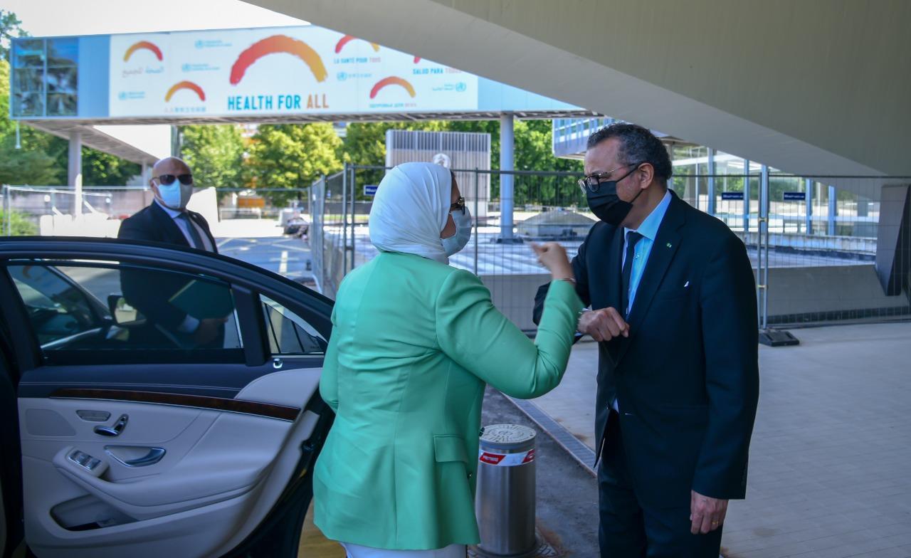 وزيرة الصحة تلتقي مدير عام منظمة الصحة العالمية