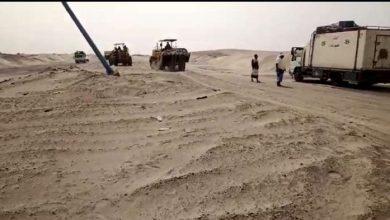 حملة لتصفية خط أبين عدن من الرمال المتحركة