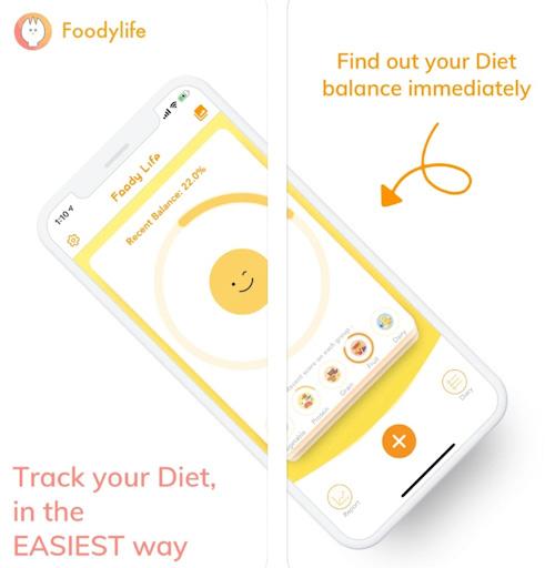 تطبيق FoodyLife - تتبع ما تأكل