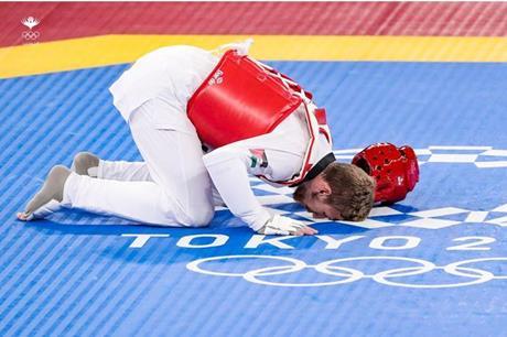 الأردني صالح الشرباتي يكتفي بفضية التايكواندو في أولمبياد طوكيو 2020