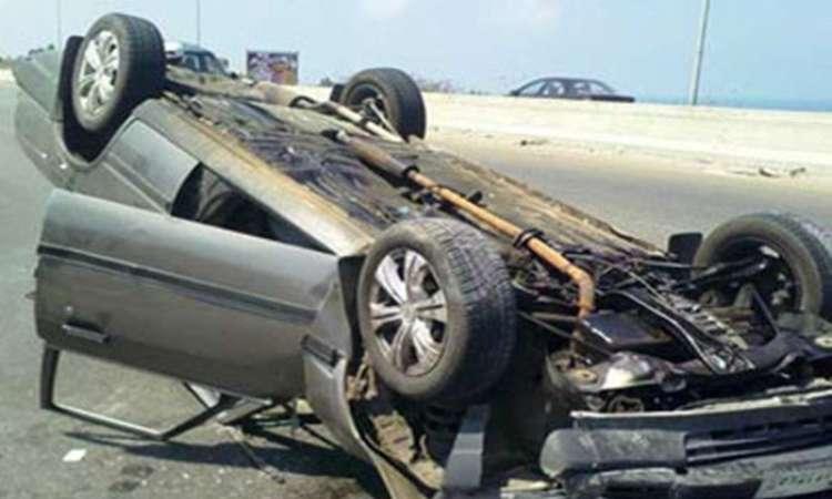 مصرع شاب وإصابة 5 جراء انقلاب سيارة ملاكي بالبحيرة