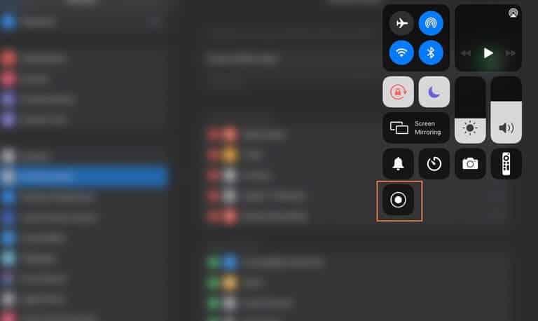 كيفية استخدام ميزة تسجيل الشاشة في آيباد