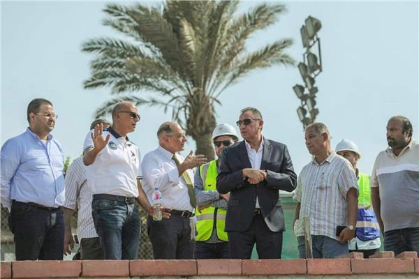 محمود الخطيب يتفقد المرحلة النهائية من جراج فرع مدينة نصر