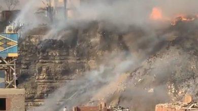 السيطرة على حريق نشب في مخلفات في منطقة اسطبل عنتر