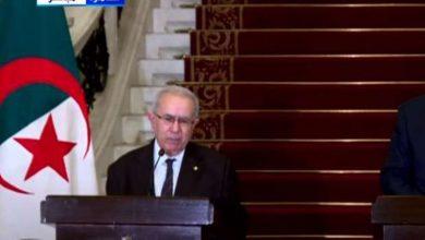 وزير الخارجية الجزائري، رمطان لعمامرة