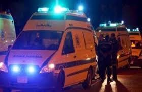 إصابة 4 أشخاص إثر انقلاب سيارة بالطريق الصحراوي بالبحيرة