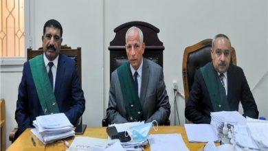 هيئة المحكمة برئاسة المستشار حمدي الشنوفي