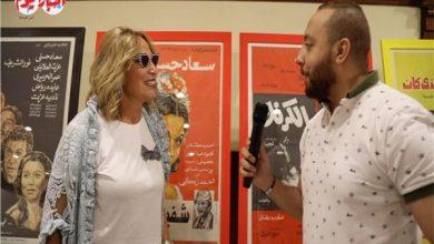 إيناس الدغيدي خلال حوارها مع الزميل هشام السيوفي