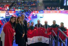 سفير مصر بهلسنكي يلتقي فريق المنتخب الوطني للريشة الطائرة