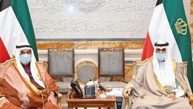 الأمير وولي العهد يستقبلان سمو الشيخ ناصر المحمد