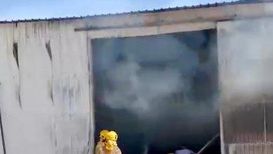 فرق الإطفاء تخمد حريق مخزن أعلاف بالوفرة