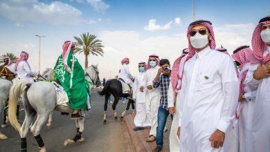 """نائب أمير حائل يدشن """"مسيرة وطن"""" للخيول العربية بمناسبة اليوم الوطني الـ 91 - صحيفة عين الوطن"""